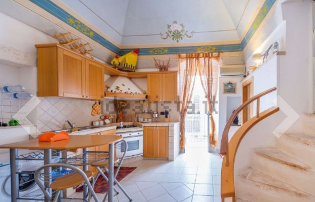 Ancient Stone House for Sale in Ostuni with Ceiling Frescos